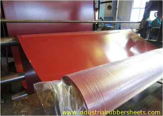 Double Impression Fabric Industrial Rubber Sheet , Tensile Strength 15-24Mpa