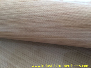 Brown Ptfe Coated Glass Cloth / PTFE Coated Fiberglass Cloth 0.08-0.35mm Thickness